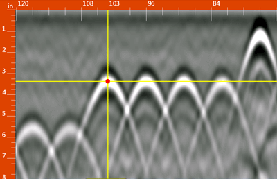 電磁波レーダ ストラクチャスキャン SIR-EZ XT 小型アンテナ・キューブアンテナ 波形データ