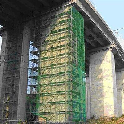 コンクリートテスター CTS-02v4 高架はくり検査現場