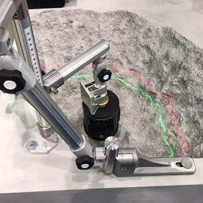 コンクリートハツリ作業 安全装置 Safety-Hatsuri-Laser SHL