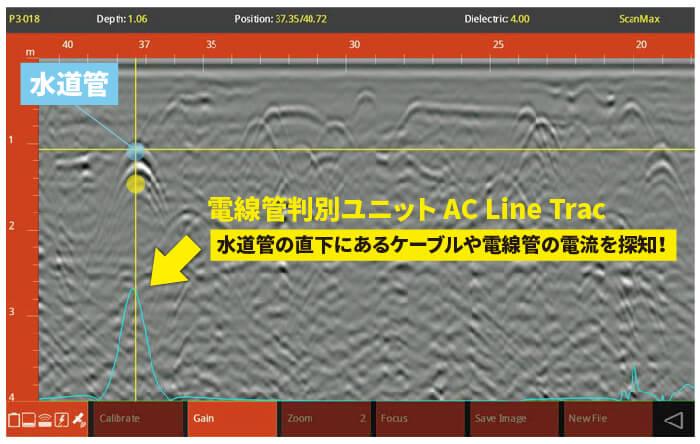 ユーティリティスキャン スマート 電線管判別ユニット「Line Trac」
