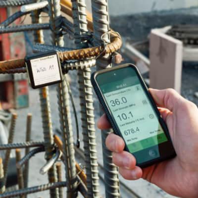 ワイヤレスコンクリート温度センサー SmartRock2