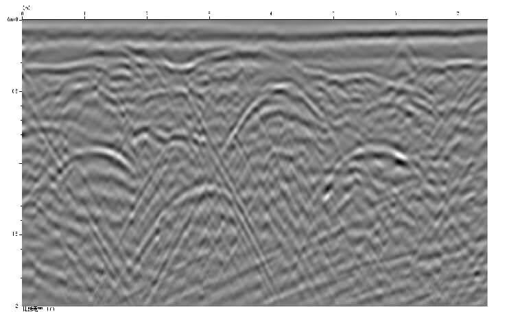 密集配線、配管探査例01