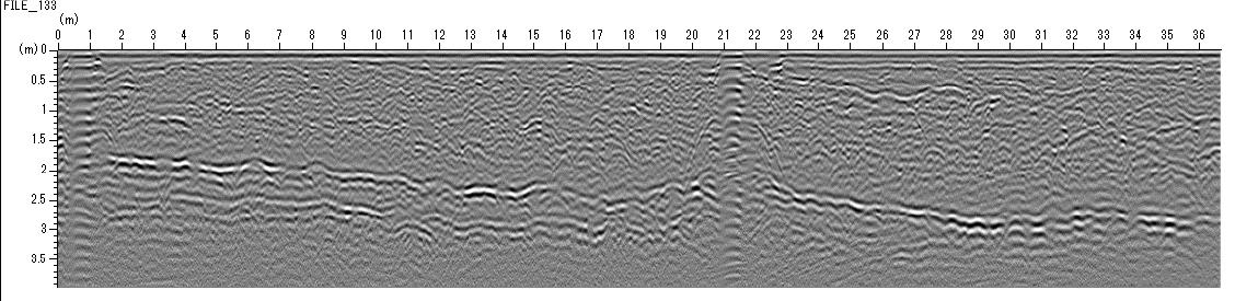 密集配線、配管探査例02