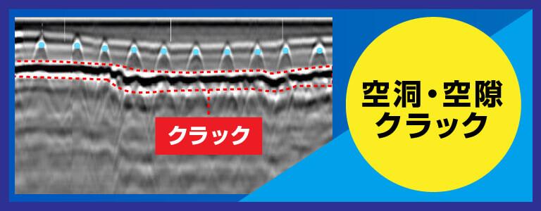 トンネル内路面下空洞探査 2D測定 電磁波レーダ探査