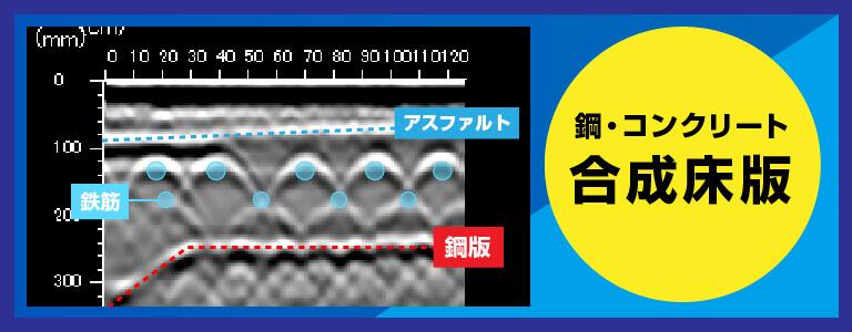 鋼・コンクリート合成床版 2D測定 電磁波レーダ探査
