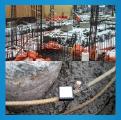 寒冷地におけるコンクリート温度監視